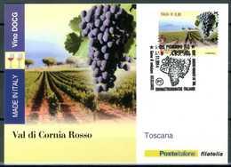 ITALIA / ITALY 2014 - Vino DOCG - Val Di Cornia Rosso - Toscana - Maximum Card Come Da Scansione. - Vini E Alcolici