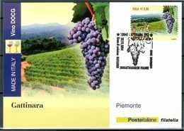 ITALIA / ITALY 2014 - Vino DOCG - Gattinara - Piemonte - Maximum Card Come Da Scansione. - Vini E Alcolici