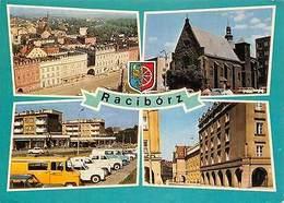 Poland Raciborz Zabytkowe Kamieniczki W Rynku Church Town Hall Cars - Polonia