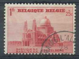 [60320]TB//O/Used-N° 474, 1F+25c Rouge, Basilique De Koekelberg, Obl. 'Braine L'Alleud' - Belgique