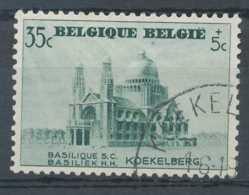 [60326]TB//O/Used-N° 472-v15, 35c+5c Vert, Basilique De Koekelberg, Malfaçon Sous B, Net Varibel 2 Euros - Variétés Et Curiosités
