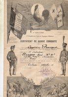 MILITARIA...certificat De Bonne Conduite...17EME CORP D ARMEE...departement D ORAN 1928 - Unclassified