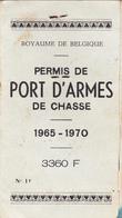 Permis De Port D'Armes  De Chasse - Collections