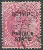 Patiala State(India). 1903-10 KEVII. Official. 1a Used. SG O25 - Patiala