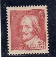 France - 1935 - N° YT 306** - Jacques Callot - Nuovi