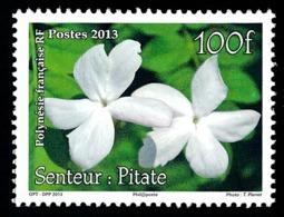 POLYNESIE 2013 - Yv. 1034 **  - Jasmin. Senteur Pilate. Timbre Parfumé  ..Réf.POL24952 - Polynésie Française