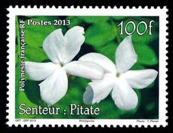 POLYNESIE 2013 - Yv. 1034 **  - Jasmin. Senteur Pilate. Timbre Parfumé  ..Réf.POL24953 - Französisch-Polynesien