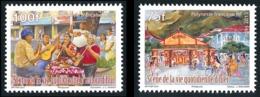 POLYNESIE 2013 - Yv. 1013 Et 1014 **   Faciale= 1,47 EUR - Vie Quotidienne (2 Val.)  ..Réf.POL24941 - Polynésie Française