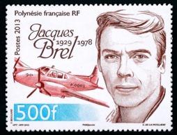 POLYNESIE 2013 - Yv. 1022 **   Faciale= 4,20 EUR - Jacques Brel Et Son Avion Jojo  ..Réf.POL24946 - Polynésie Française