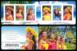 POLYNESIE 2013 - Yv. 1035 à 1040 = Carnet C1035 **  - Vahinées (6 Val.) Autoadhésif  ..Réf.POL24954 - Französisch-Polynesien
