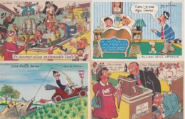 Lot De 19 Cpa Illustrées Jean De Preissac - Preissac