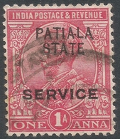 Patiala State(India). 1913-26 KGV. Official. 1a Used. SG O37 - Patiala