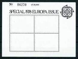 Gran Bretaña HB (sobrecarga Europa-78) Nuevo - Hojas Bloque