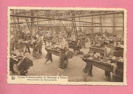 C.P. Hornu = Route  De  Valenciennes : Ecoles Professionnelles  Du Borinage :  Ateliers- Section Machines-Outils - Boussu