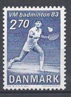 Danemark 1983 N°772 Neuf ** Championnat Du Monde De Badminton - Nuovi