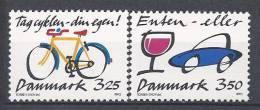 Danemark 1990 Série Neuve**  N° 994/995 Prévention Routière - Nuovi