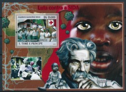 NB - [400655]TB//**/Mnh-Sao Tomé-et-Principe 2009 - Lutte Contre Le Sida, Albert Schweitzer - Medizin