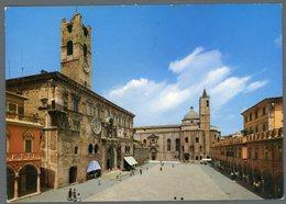 °°° Cartolina - Ascoli Piceno Piazza Del Popolo Viaggiata °°° - Ascoli Piceno