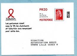 Marianne L'Engagée PRIO  SIDACTION LOT 209422 - Entiers Postaux