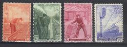 BELGIQUE    N°s 260*,261**,262**,263*  (1942 )  Série Complète - Chemins De Fer