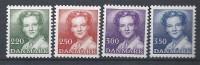 Danemark 1983 Série Neuve**  N° 777/780 Série Courante Reine Margrethe - Nuovi