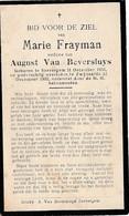 Zwijnaarde,Zevergem, Seevergem, 1935, Maria Frayman, Van Beversluys - Devotieprenten