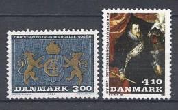Danemark 1988 Série Neuve**  N° 917/918 Roi Christian IV - Nuovi