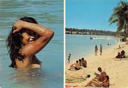 3PIE-Z Fo-19-3170 : POLYNESIE FRANCAISE. MOOREA. JOLIE JEUNE FEMME AUX SEINS NUS. - Frans-Polynesië