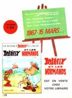 """PUB """" ALBUM """" ASTERIX T Les  NORMANDS  """" ASTERIX Et OBELIX  """"   1967 - Astérix"""
