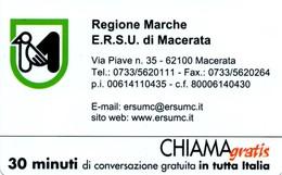 *CHIAMAGRATIS - N.845 - REGIONE MARCHE* - Scheda NUOVA (MINT) (DT) - Italia