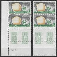 France -1962 - 2 Paires Avec BdF - Télécommunications Spatiales -  Y&T N° 1360 ** Neuf Luxe  (gomme D'origine Intacte) - France