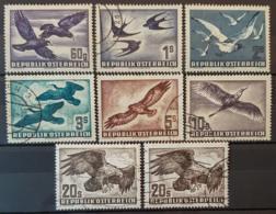 AUSTRIA 1950/53 - MLH/canceled - ANK 967-973 + 973y - Complete Set! - Vögel - 1945-.... 2de Republiek
