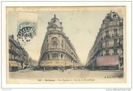 Carte D' Orléans Rue Bannier Et Rue De La République  ( Colorisée ) - Orleans