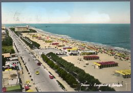 °°° Cartolina - Pesaro Lungomare E Spiaggia Viaggiata °°° - Pesaro