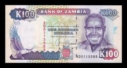 Zambia 100 Kwacha 1991 Pick 34 SC UNC - Zambia