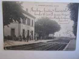 70 Haute Saône Passavant La Gare Dans L'état Plis - Francia