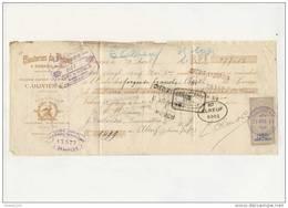 ## RARE ##  Très Ancien Mandat Datant De 1891 Clouteries Du Phénix à Ornans ( Recto Verso ) - Bills Of Exchange