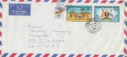 Uganda Tanzania Kenya Air Mail Cover Sent To Denmark Kampala 17-10-1972 - Kenya, Uganda & Tanganyika