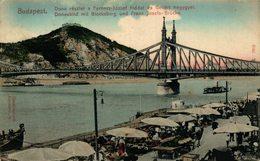 Budapest. Donaubild Mit Blocksberg Und Franz Josefs-Brucke. Hungria - Hongrie