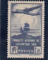 France - 1936 - N° YT 320** 100è Traversée Aérienne De L'Altantique Sud - Nuovi