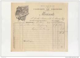 Facture Illustrée Fabrique De Liqueurs MORISSET à Châtillon Sur Loire 1919 ( Loiret 45 ) Recto Verso - 1900 – 1949