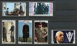Ras Al Khaima Ob Michel N° 670 A à 675 A - Charles De Gaulle - - Ras Al-Khaima