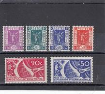 France - 1936 - N° YT 322/27** Expo Intern. De Paris - Nuovi