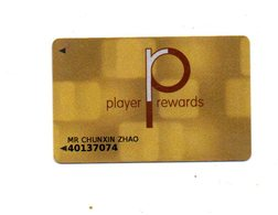 INGHILTERRA KEY CASINO - Player Rewards  - LONDON - Casino Cards