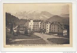 Carte De Passy Village Sanatorium De Pratz Coutant ( Pliure Sur 1 Coin )( Recto Verso ) - Passy