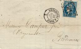 25-4-71 - Lettre De Cherbourg ( Manche ) Cad AMB. Cherbourg à Paris  Affr. N°46 Report II ( 4 Marges  ) - Poststempel (Briefe)