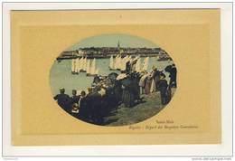 Jolie Carte De Saint Malo Régates ( Peu Courante En Forme De Médaillon ) ( Recto Verso ) - Saint Malo