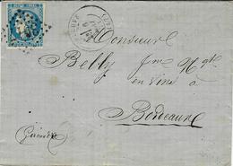 6 Mai 71 - Lettre De TEMPLEUVE ( Nord ) Cad N°45 Report II G C 3917  Avec Variété ( U De REPUB ) Pour Bordeaux - Marcofilia (sobres)