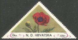 282 Croatia 10 Kuna Coquelicot Poppy Mohn Papoula Amapola Papavero MNH ** Neuf SC (CRO-26c) - Flora
