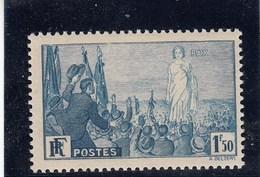 France - 1936 - N° YT 328** Rassemblement Universel Pour La Paix à Paris - France
